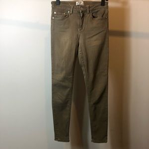 ACNE Taupe skinny 5 pocket jeans size 27